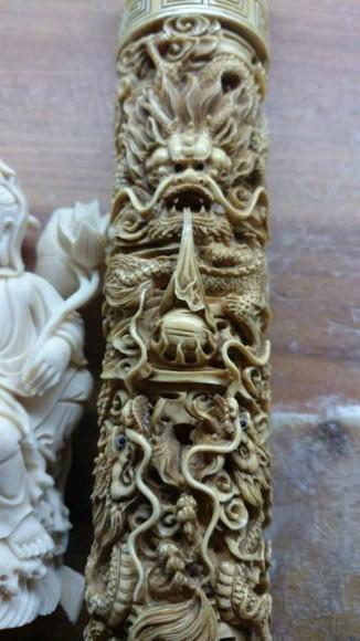 猛犸仿旧五龙香炉 (2)