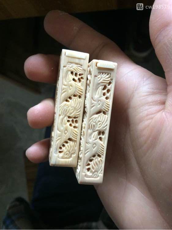 精工细琢猛犸象牙精雕香包 (3)