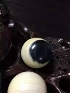 猛犸象牙25mm蓝眼珠