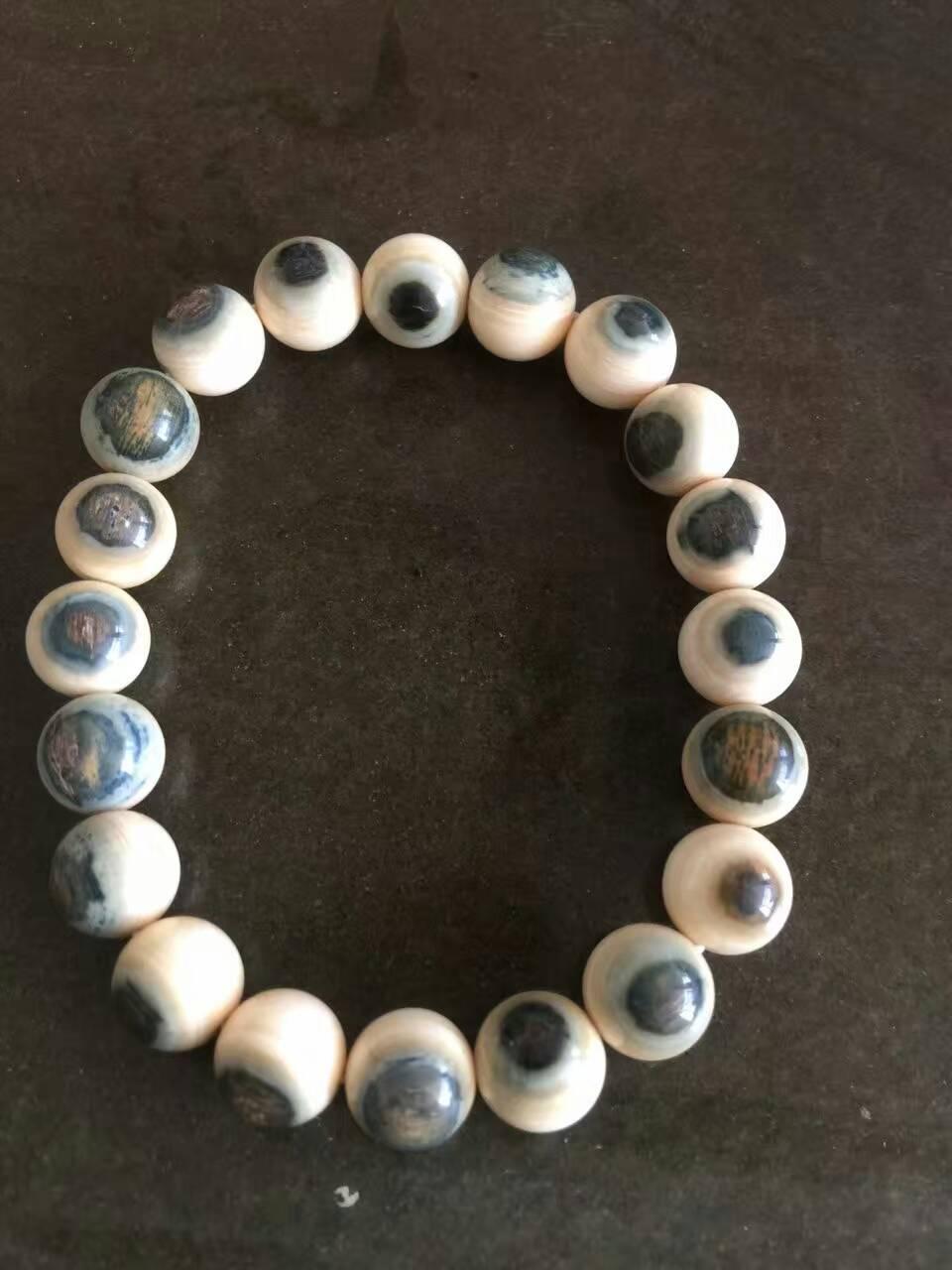 猛犸蓝眼睛手串10mm,0.8mm,0.6mm冰料蓝眼睛手串