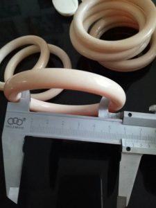 猛犸象牙果冻料手镯镯子圆条10mm猛犸手镯
