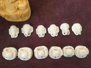 猛犸象牙蓝皮小象挂件手玩件