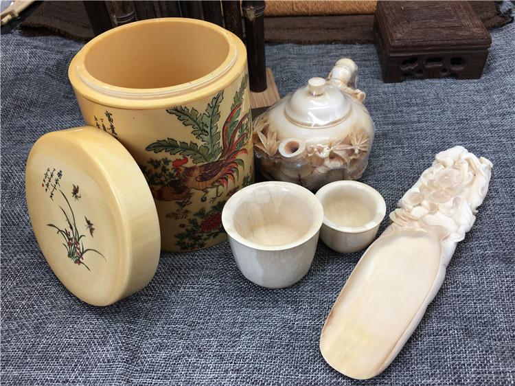 猛犸象牙茶具收藏品