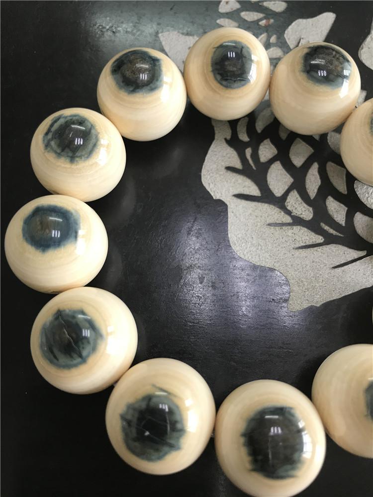 猛犸象牙2.0蓝眼睛手串手链
