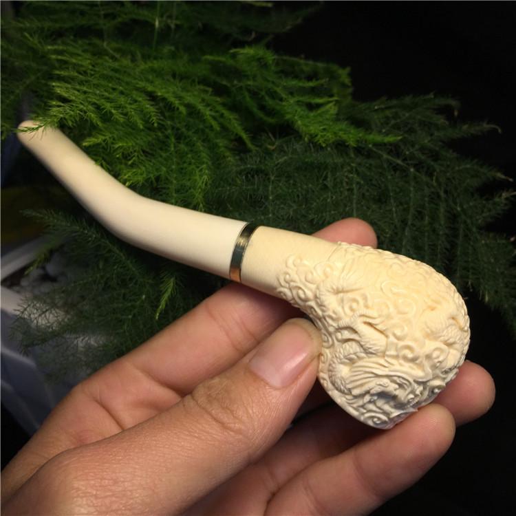 猛犸象牙雕龙烟斗